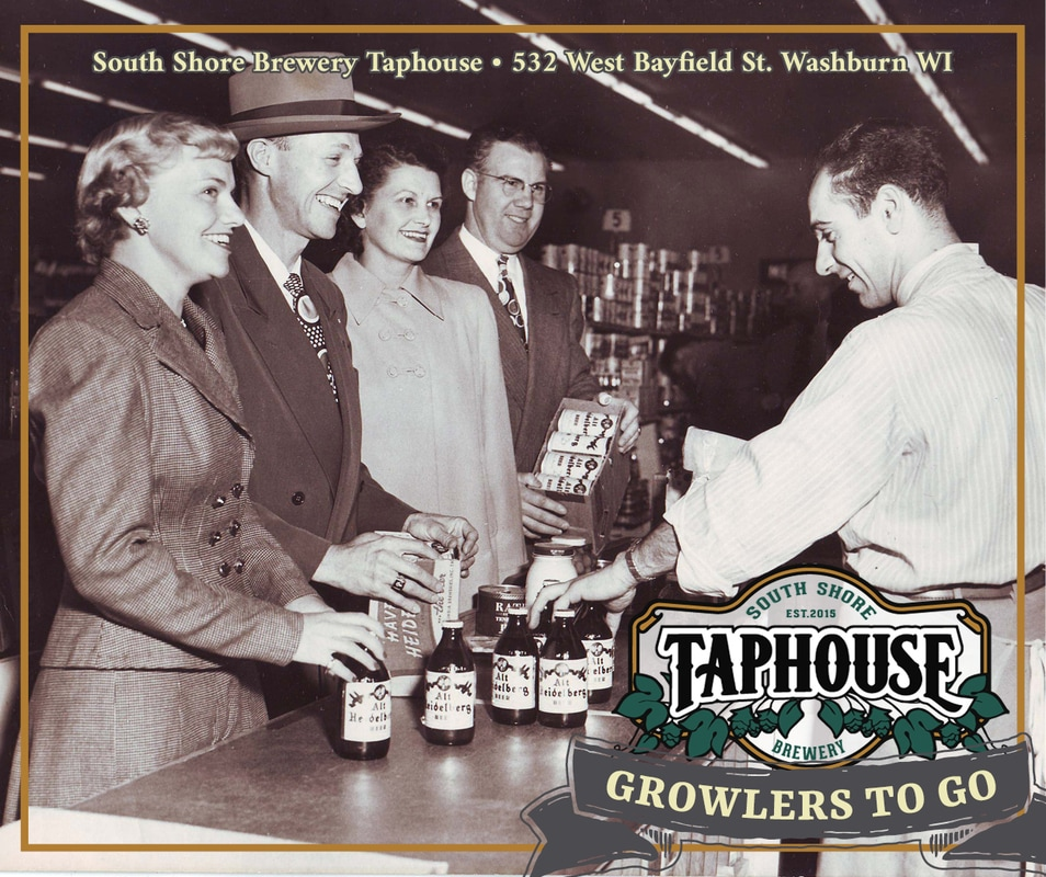 A branded advertising graphic for Growlers To Go.